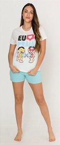Pijama Adulto Feminino Turma da Mônica - Coleção Mãe e Filha