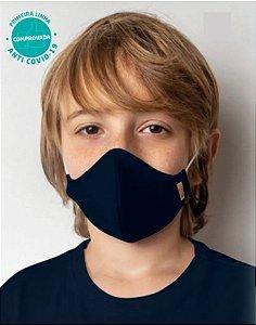 Kit 2 Máscaras Viroblock Tripla Proteção Infantil Verde e Azul - Malwee