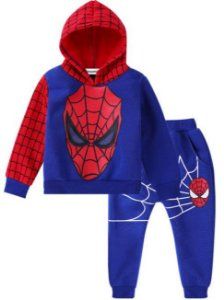 Conjunto de Blusa Moleton e Calça do Homem Aranha - Azul e Vermelho