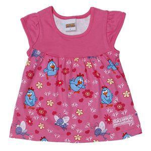Vestido Galinha Pintadinha - Rosa e Azul - Bebê - Brandili