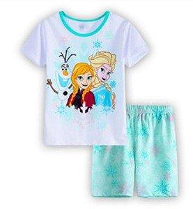 Pijama da Frozen - Branco e Verde Água