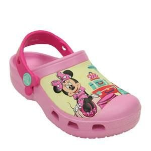 Crocs Minnie Mouse - Rosa Claro & Amarelo - Disney