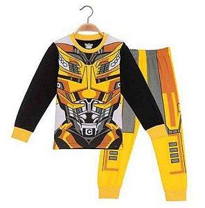 Pijama do Transformers - Amarelo e Preto