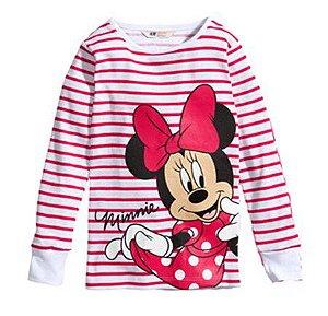 Blusa da Minnie - Rosa Listrada