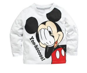 Camiseta do Mickey - Branca