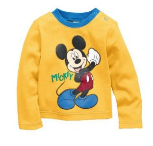 Camiseta do Mickey - Amarela