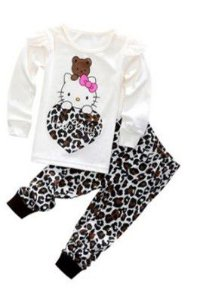 Pijama da Hello Kitty - Tigrado Marrom