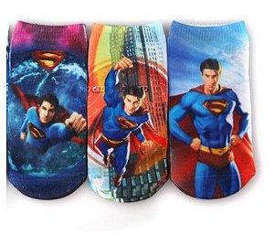 Kit de Meias do Superman (Opção 1)