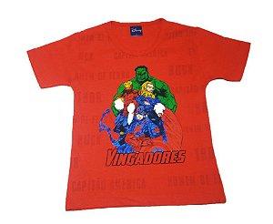 Camiseta dos Vingadores - Vermelha