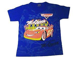 Camiseta do Mcqueen - Carros - Azul