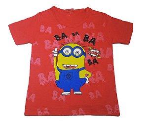 Camiseta dos Minions - Vermelho Escuro