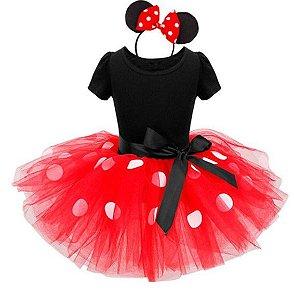 Fantasia da Minnie - Vermelha c/ Tiara