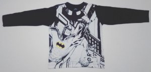 Camiseta do Batman - Branco e Preto