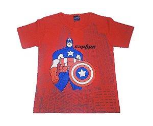 Camiseta do Capitão América - Vermelha