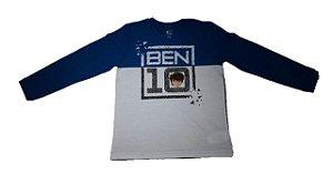Camiseta do Ben 10 - Azul e Branca