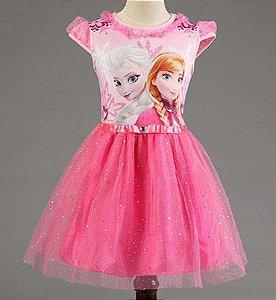 Vestido da Frozen com Tule