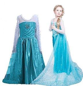 Fantasia da Elsa com Tiara - Frozen