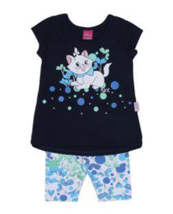 Conjunto de Blusa Marie e Legging - Azul Marinho - Brandili Baby