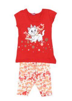 Conjunto de Blusa Marie e Legging - Vermelha - Brandili Baby