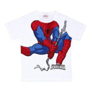 Camiseta do Homem Aranha na Teia -  Branca - Brandili