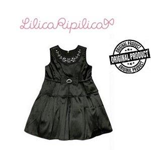 Vestido Infantil Lilica Ripilica - Cetim Preto