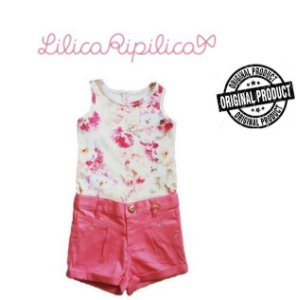 Conjunto de Blusa e Short - Lilica Ripilica Baby - Rosa e Branca