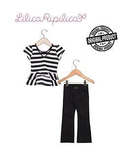Conjunto Infantil de Blusa e Calça Flare Lilica Ripilica