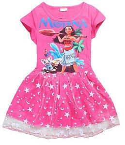 Vestido Infantil da Moana - Rosa