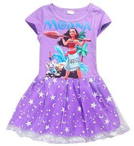 Vestido Infantil Moana - Lilás