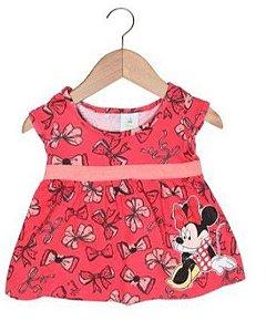 Vestido da Minnie - Laços - Coral e Rosé - Brandili