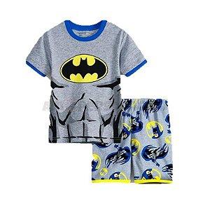 Pijama do Batman - Cinza e Amarelo