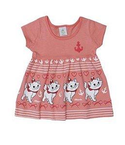 Vestido Bebê Bordado Gatinha Marie - Coral - Bebê - Brandili