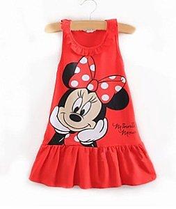 Vestido Infantil da Minnie - Vermelho