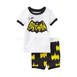Pijama do Batman- Eu sou o Batman - Branco e Preto