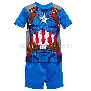 Pijama do Capitão América - Uniforme Oficial