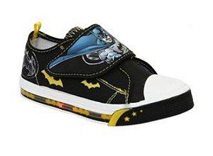 Tenis Baby Batman com Led - Preto e Amarelo (Dc Comics)