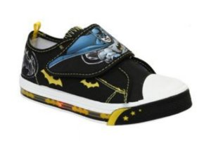 Tenis Kids Batman com Led - Preto e Amarelo (Dc Comics)