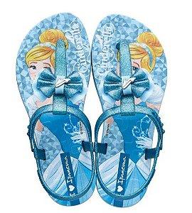 Sandália de Dedo Disney Princesa Cinderela - Azul