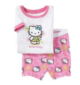 Pijama da Hello Kitty - Branco e Rosa