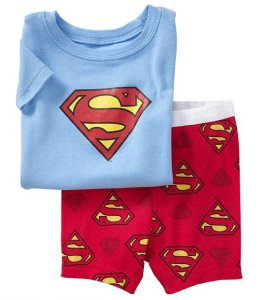 Pijama do Superman - Azul Claro e Vermelho