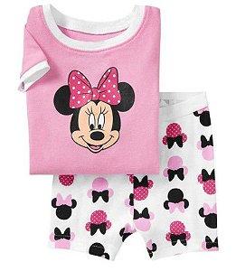 Pijama da Minnie - Rosa e Branco