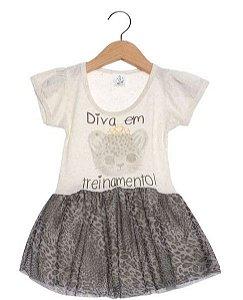 Vestido Infantil Diva - Cinza