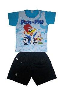 Conjunto de Bermuda e Camiseta do Picapau
