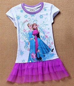 Vestido Bebê Anna e Elsa - Frozen