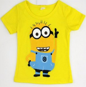Camiseta dos Minions - Amarela