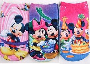 Kit de Meias Mickey e Minnie (Opção 1)