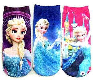 Kit de Meias da Elsa - Frozen - (Opção 1)