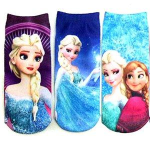 Kit de Meias da Elsa - Frozen - (Opção 2)
