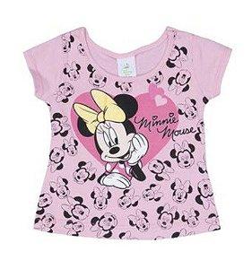 Blusa Baby da Minnie - Rosa Claro e Preto - Brandili