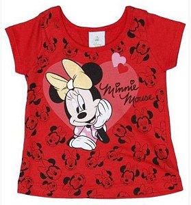 Blusa Bebê Menina Minnie Vermelha - Brandili